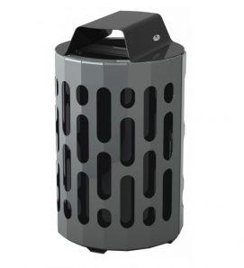 2020 - black waste bin