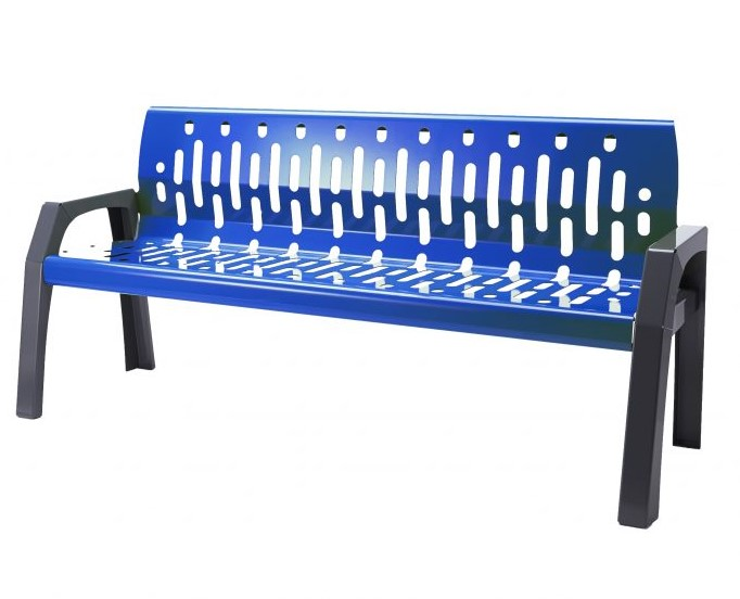 2060 - blue 6' bench