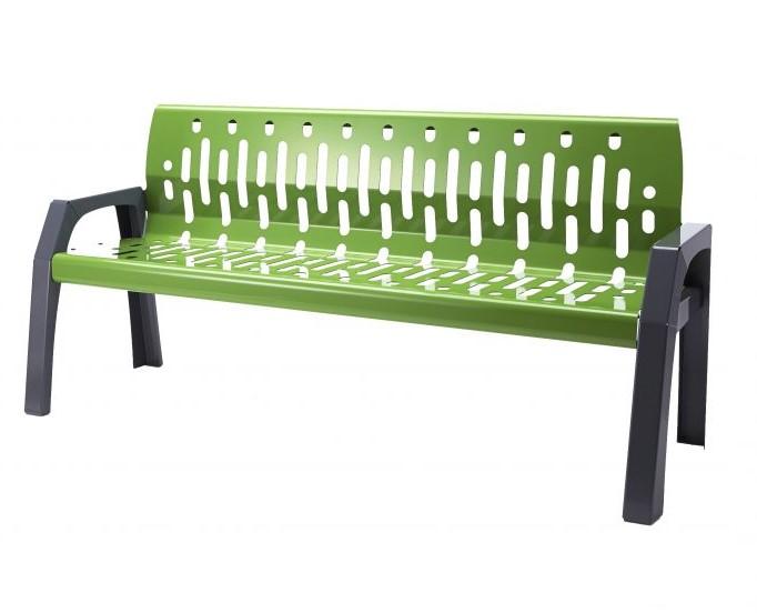 2060 - green 6' bench