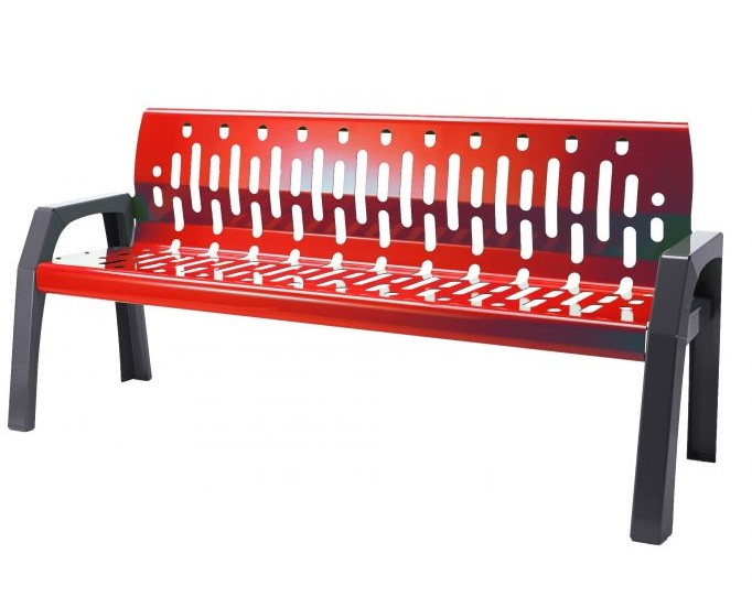 2060 - red 6' bench