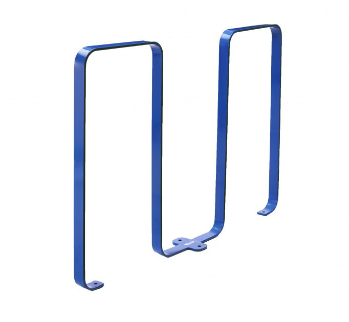 2080 - blue bike rack