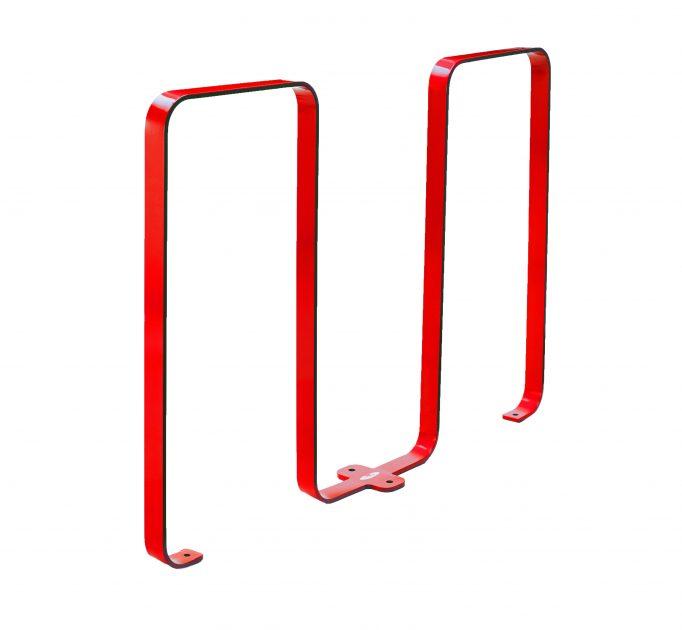 2080 - red bike rack