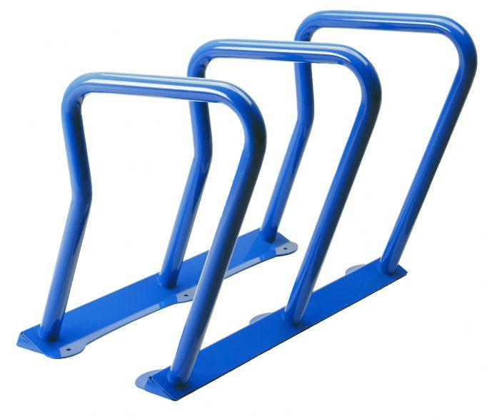 2090 - blue bike rack