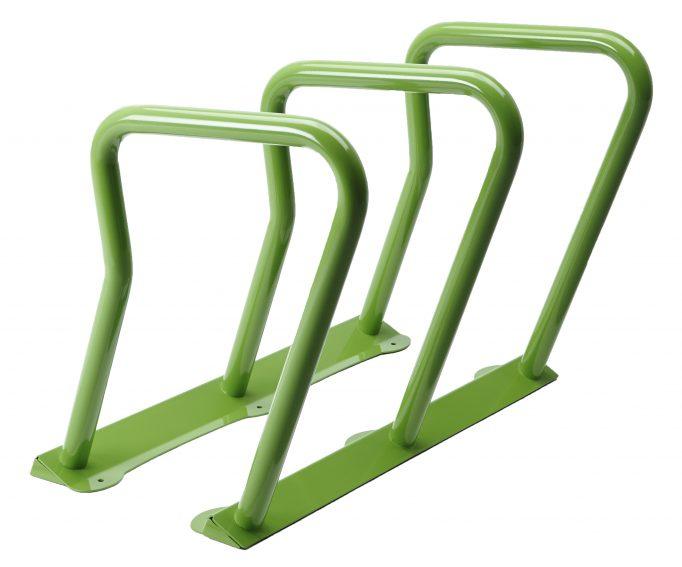 2090 - green bike rack