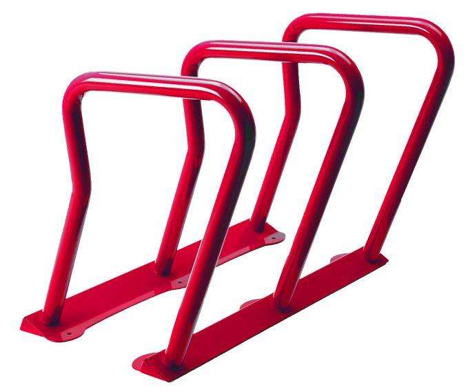 2090 - red bike rack