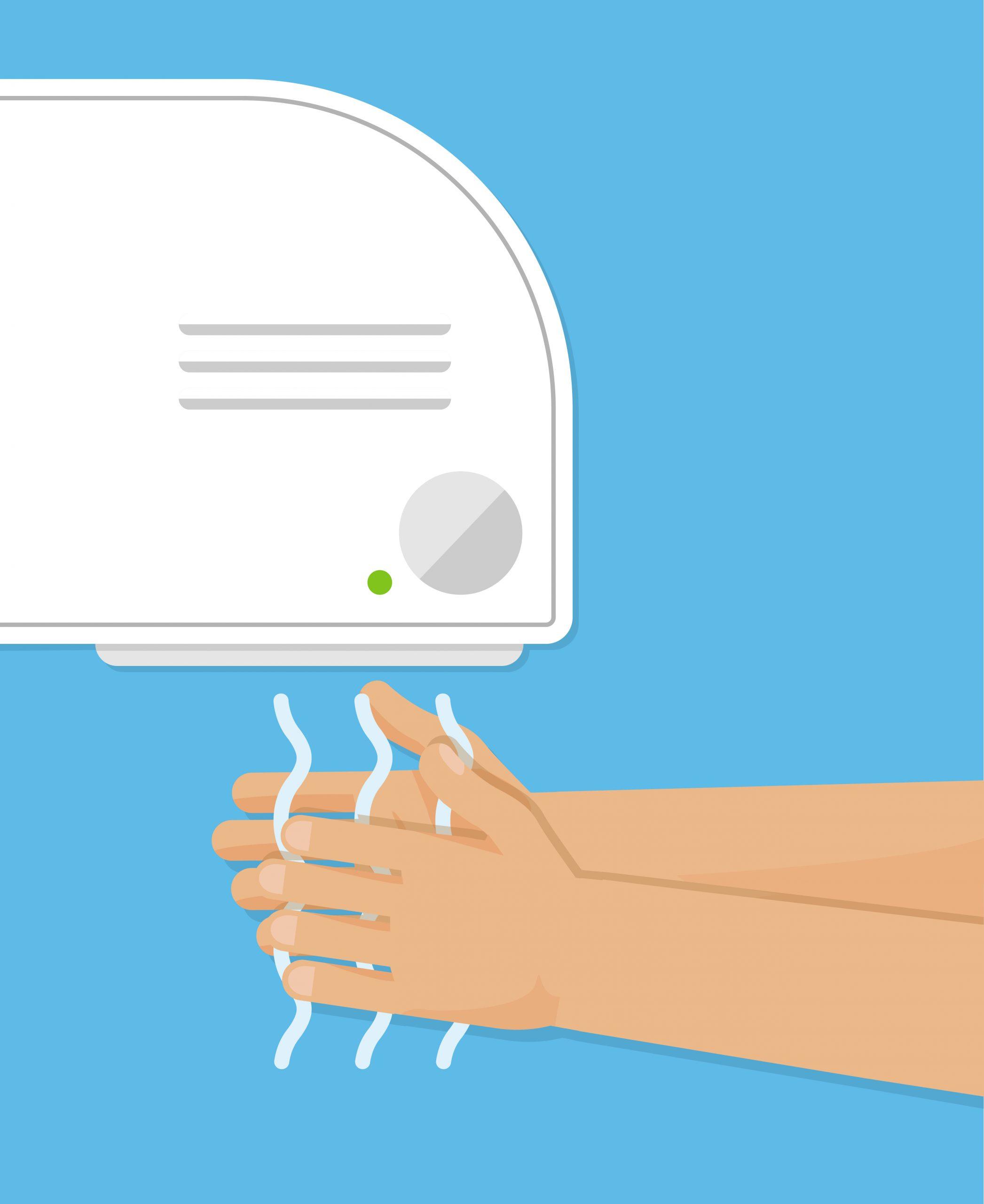 Hand dryer icon. Vector illustration