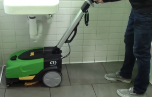 small battery powered automatic floor scrubber